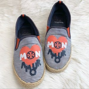 TORY BURCH Mon Amour Alain's Espadrille Slip Ons